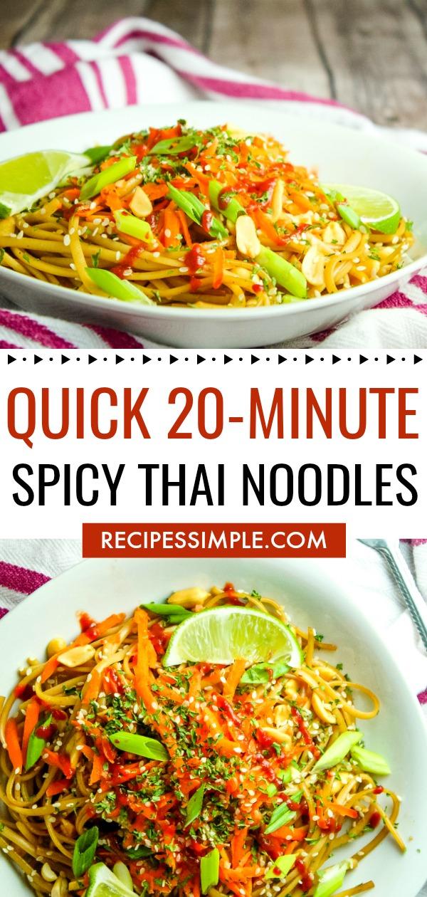 Quick Spicy Thai Noodle Recipe