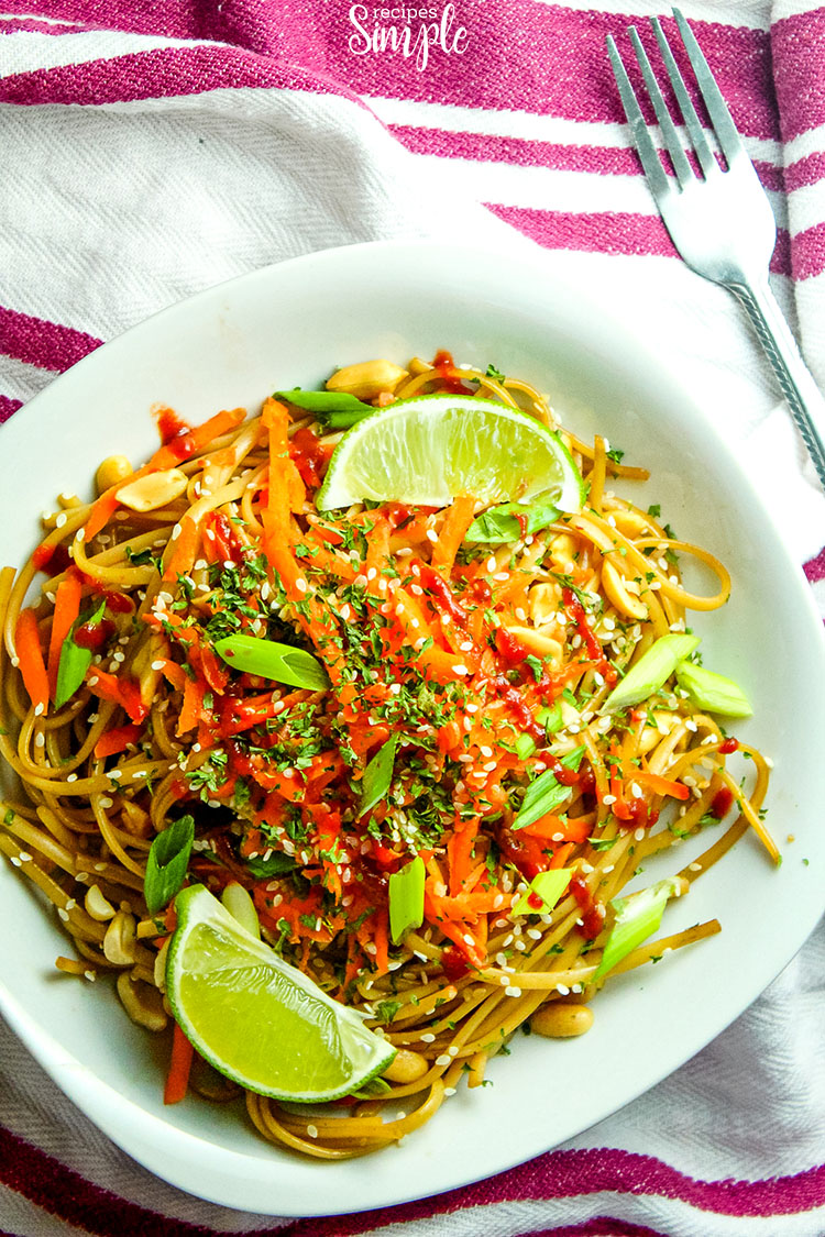 Quick Spicy Thai Noodles plate