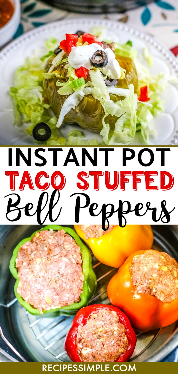 Easy Instant Pot Taco Stuffed Bell Peppers