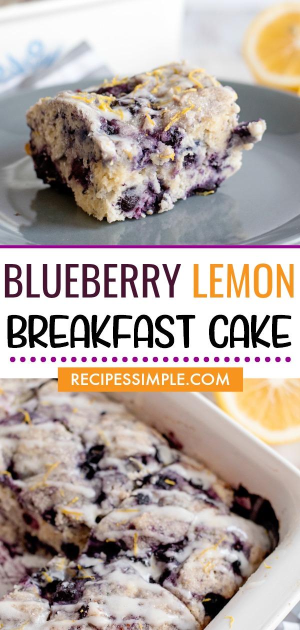 Blueberry Lemon Breakfast Cake Pinterest Image