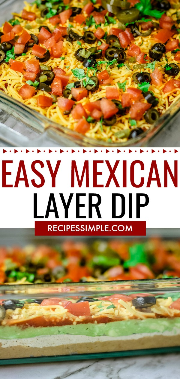 Mexican Layer Dip Pinterest Pin