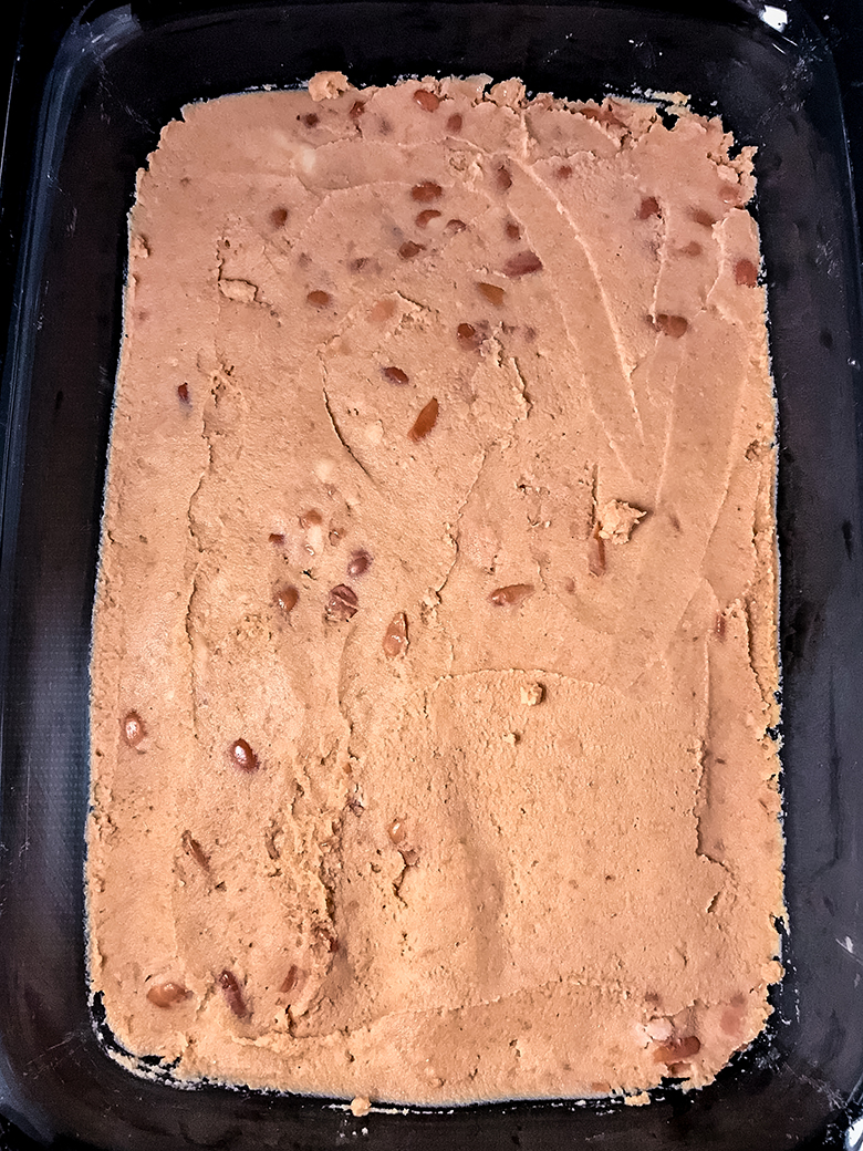 Refried Beans Spread in Glass Dish
