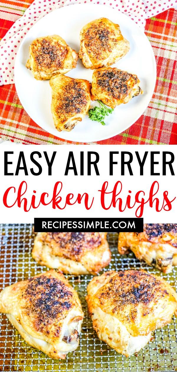Air Fryer Easy Chicken Thighs Pinterest Pin