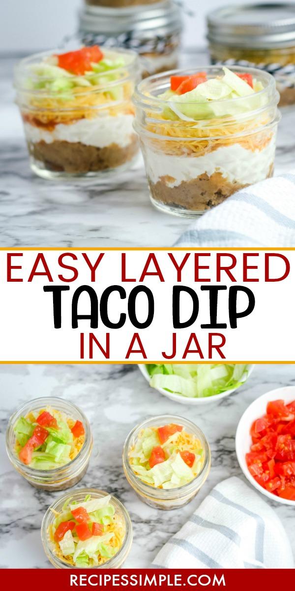 Layered Taco Dip Jar Pinterest Pin