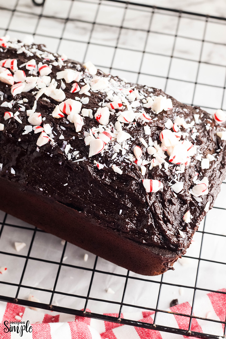 Chocolate Peppermint Pound Cake On Wire Rack