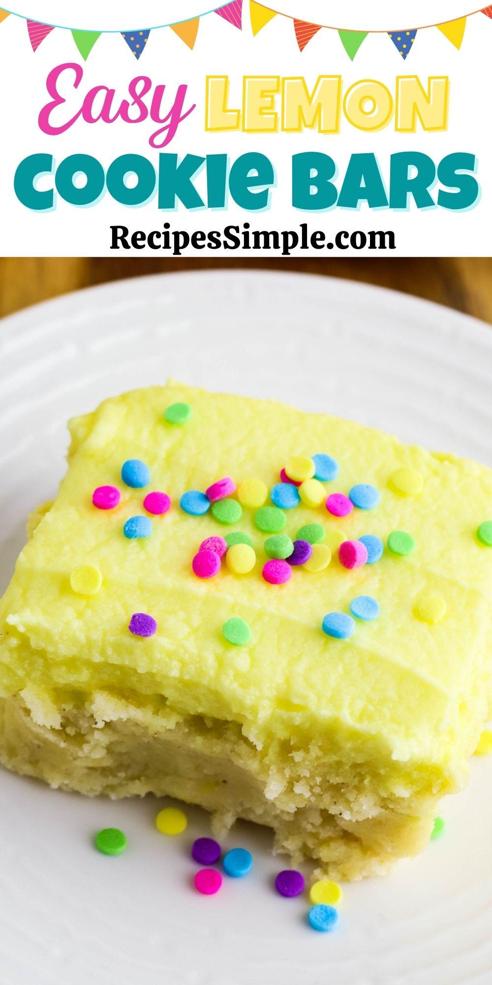 Lemon Cookie Bars Pinterest Pin