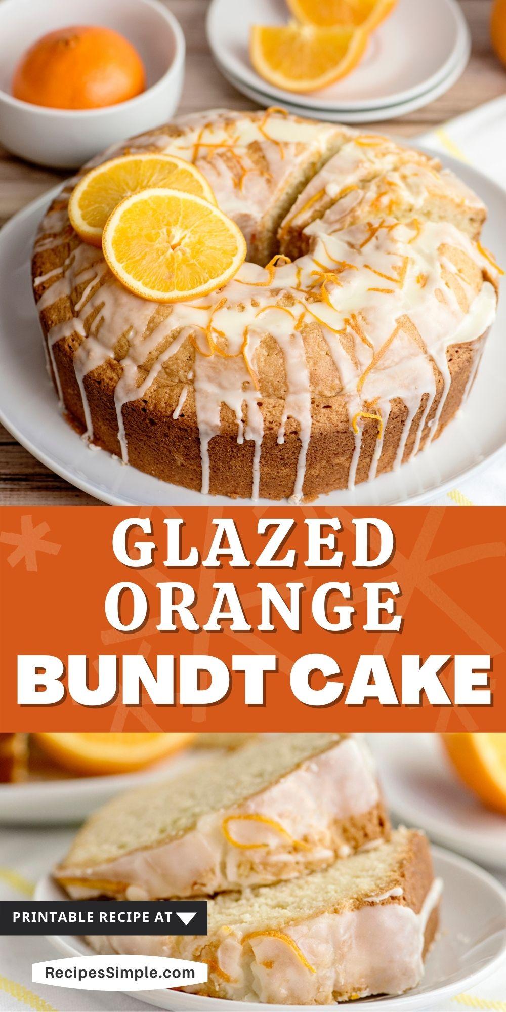 Glazed Orange Cake Recipe Pinterest Pin