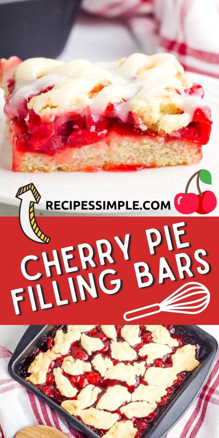 Cherry Pie Filling Bars Pinterest Pin