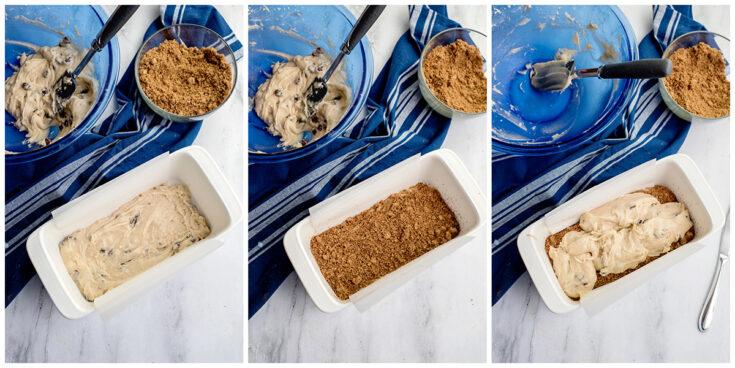 Cinnamon Raisin Bread Batter in Pan