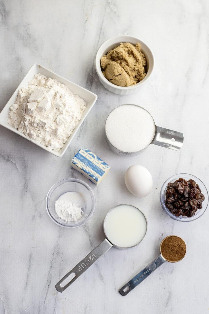 Ingredients For Cinnamon Raisin Bread